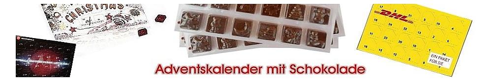 Weihnachten Adventskalender mit Schokolade Werbeartikel