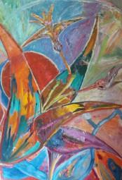 Blüte mit Kolibris