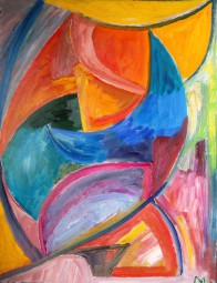 Abstraktes Formengebilde