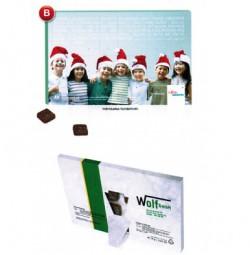 Tischkalender-Adventskalender, individuelle + Standard-Motive Werbeartikel