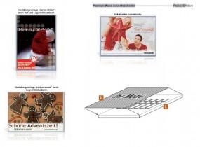 Premium Wand-Adventskalender als Werbeartikel