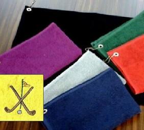 Golfhandtuch mit Logo-Bestickung als Werbeartikel
