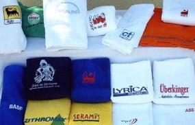 Handtücher mit Logo Bestickung, bestickt Werbeartikel