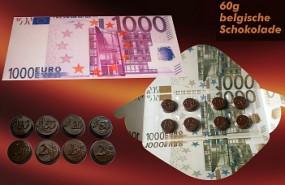 Geldschein mit 60 g Schokoladeschokolade Werbeartikel