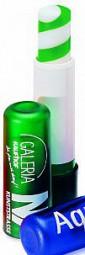 GRÜNER Lippenpflegestift mit 2-farbigem Lippenbalsam Werbeartikel