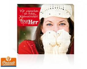 Mini-Tisch-Adventskalender Brandt als Werbeartikel