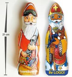 Schokoladen Weihnachtsmann Nikolaus Sonderanfertigung Werbeartikel