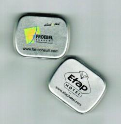 Pfefferminzdose Metall als Werbeartikel