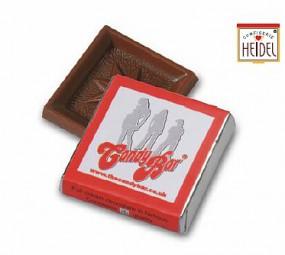 Schokoladen Quadrat Napolitaine als Werbeartikel