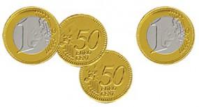 Schokoladen-Münzen mit Logoprägung als Werbeartikel