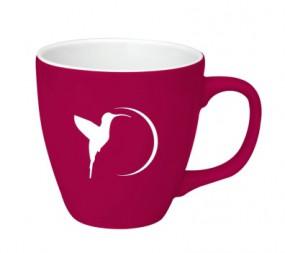 Tasse in Sonderfarbe mit Gravur als Werbeartikel