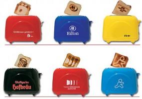 Logo Toaster bräunt das Logo im Toast Werbeartikel
