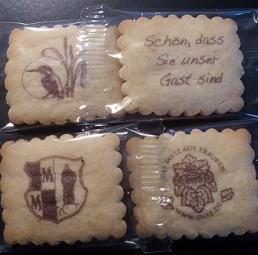 Vanille-Butterkeks, Logo-Kekse als Werbeartikel