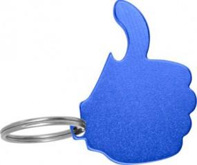 Schlüsselanhänger Thumb mit Kapselheber aus Aluminium