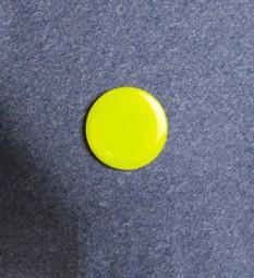 Ansteck-Button Light aus PVC mit Sicherheitsnadel (Ø 6cm)