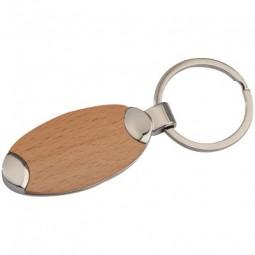 Metall-Holz-Schlüsselanhänger Baltrum Werbeartikel