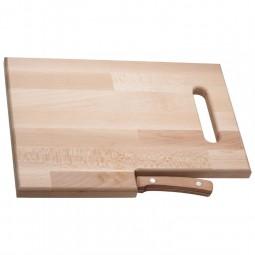 Holzbrett mit Messer Lizzano Werbeartikel