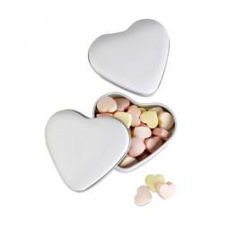 Herzdose mit Bonbons Werbeartikel Merenberg