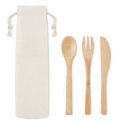 Besteck-Set Bambus Werbeartikel Kyritz