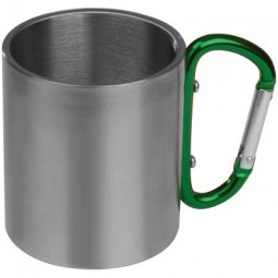 Tasse aus Metall mit Karabinerhaken Rothenburg