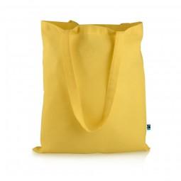 Fairtrade Baumwolltasche Elsa yellow Werbeartikel