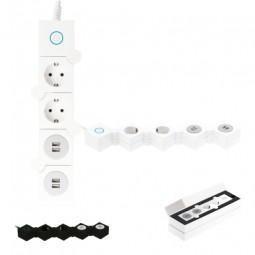 Faltbare Steckdosenleiste mit 4 USB-Anschlüssen. Schön und praktisch zugleich! Wildeshausen