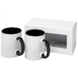Ceramic Geschenkset mit 2 Bechern mit Sublimationsdruck Miltenberg