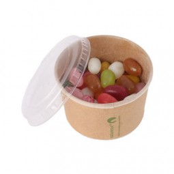 Bonbontopf Kraftkarton mit Deckel 90 ml, gefüllt mit ca. 70 gr. DutchDex Herzen mit natürlichen Arom