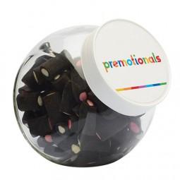 Bonbonglas 870 ml weisem Kunststoff Deckel gefüllt mit Bonbons Kategorie SPEZIELL Werbeartikel Tange