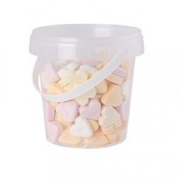 Eimerchen 670 ml gefüllt mit Bonbons Kategorie BASIS Deckel mit 4c Label Werbeartikel Bergen Rügen