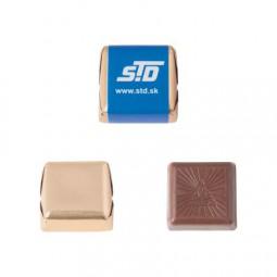 Schokoladen-Praline ca. 17 gr. Goldfolie 4-c-Druck auf Wickel Werbeartikel Osnabrück