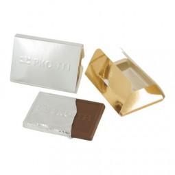Schokoladentafel Kreditkarte in Umschlag mit Prägung Werbeartikel Lauda