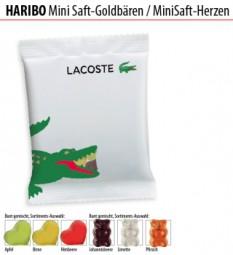 Haribo Mini Saft-Goldbären / Mini Saft-Herzen Werbeartikel