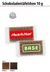 Schokoladentäfelchen 10g Werbeartikel