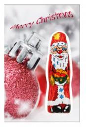 Schoko Nikolaus-Faltkarte als Werbeartikel