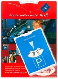 Papp-Parkscheibe 4-farbig bedruckt